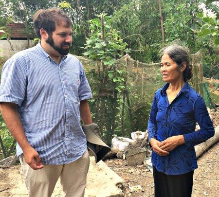 2017 Peace Fellow Jacob raised money for Mrs An