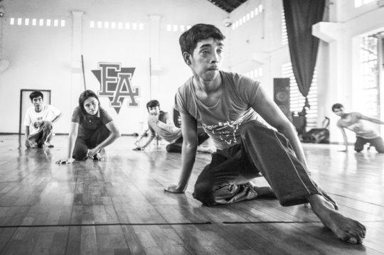 Sochon during dance class