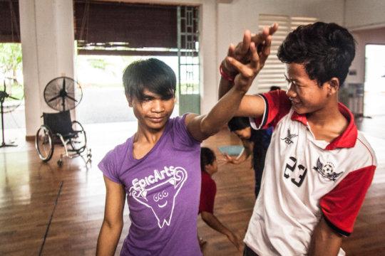 IAC students during Dance Class