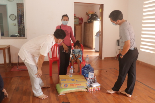 Family Receives Supplies