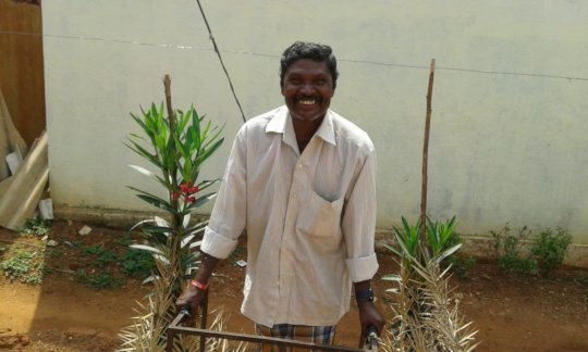 A cheerful and happy Ramaiah