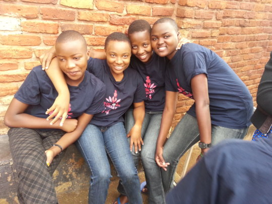 Our beneficiaries at Secondary school