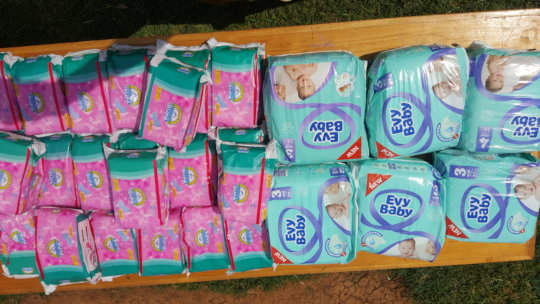 Some diapers for babies