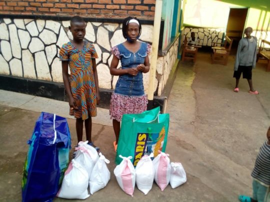 Reintegrated children provided with food