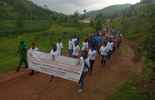 Walk demonstration in Rulido during GBV Campaign
