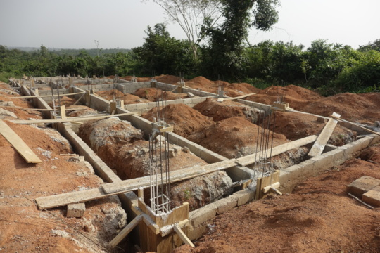 The foundation of 6 new classrooms