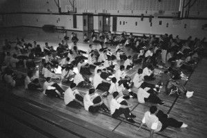 """""""Overcrowded Gym"""" by Dorales (11th grade)"""