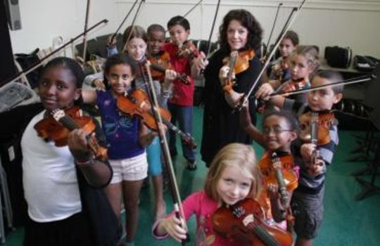 New York Daily News photo of Opus 118 Students