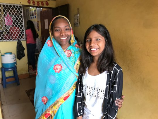 Maya and her daughter visiting our Centre