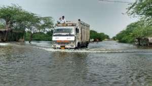 Truck load of Goonj relief kits..
