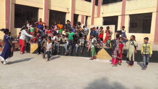 Street Children in School Premises