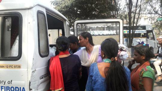 Medical Check up by mobile medical van