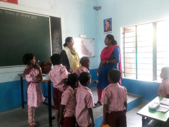 Our Social Worker with class teacher