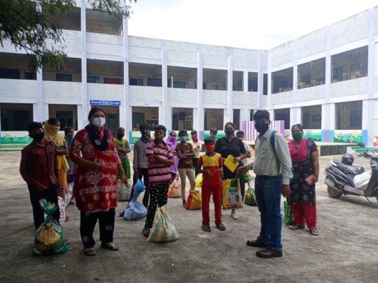 Lokmanya Tilak High School - Food Distribution