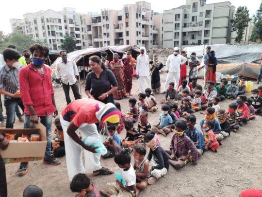 Distribution of masks etc.