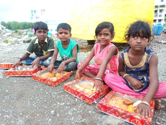 Distribution of Diwali Sweets
