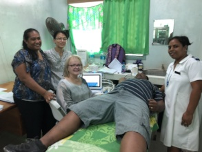 Assessing patients in the Kiribati clinic