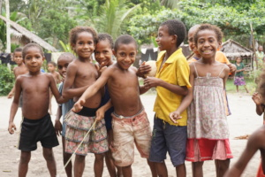 Big smiles from kids in Oro, PNG!