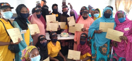 The young women trained on agribusiness