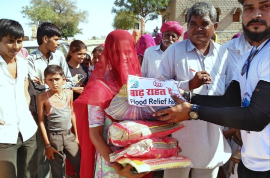 Happy; women with Relief material