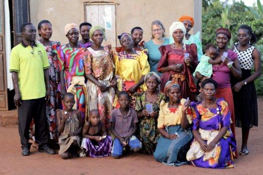 Women's group near Kyamulibwa receiving players