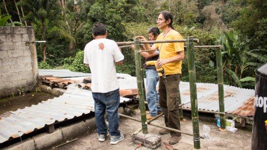Installing pilot solar dehydrator