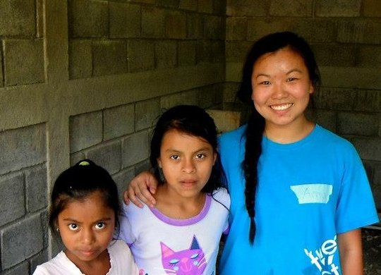 Amy on a service trip in Nicaragua