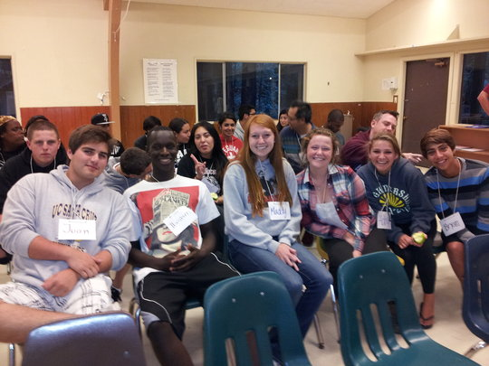 Leigh students at Camp