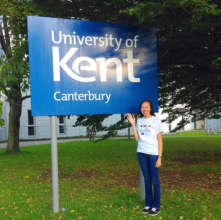 Elizabeth at University of Kent