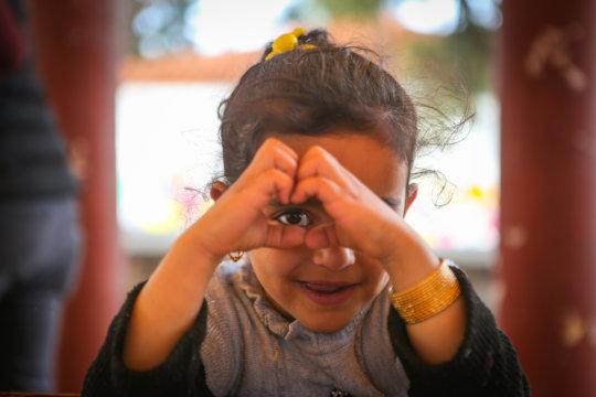 Little girl choosing love