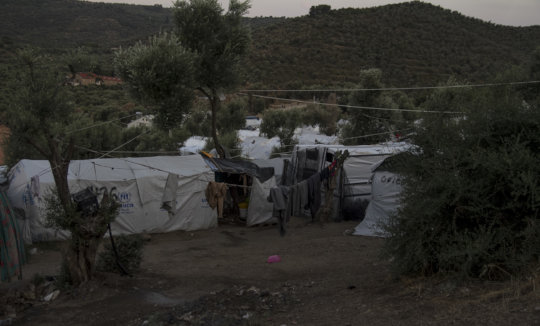 It is starting to get cold in camps in Greece