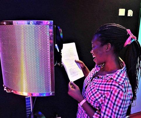 Joan in the studio