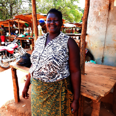 Evelyn, parent at Gulu Town P/S & businesswoman
