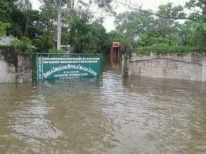 Flood water engulfed schools too