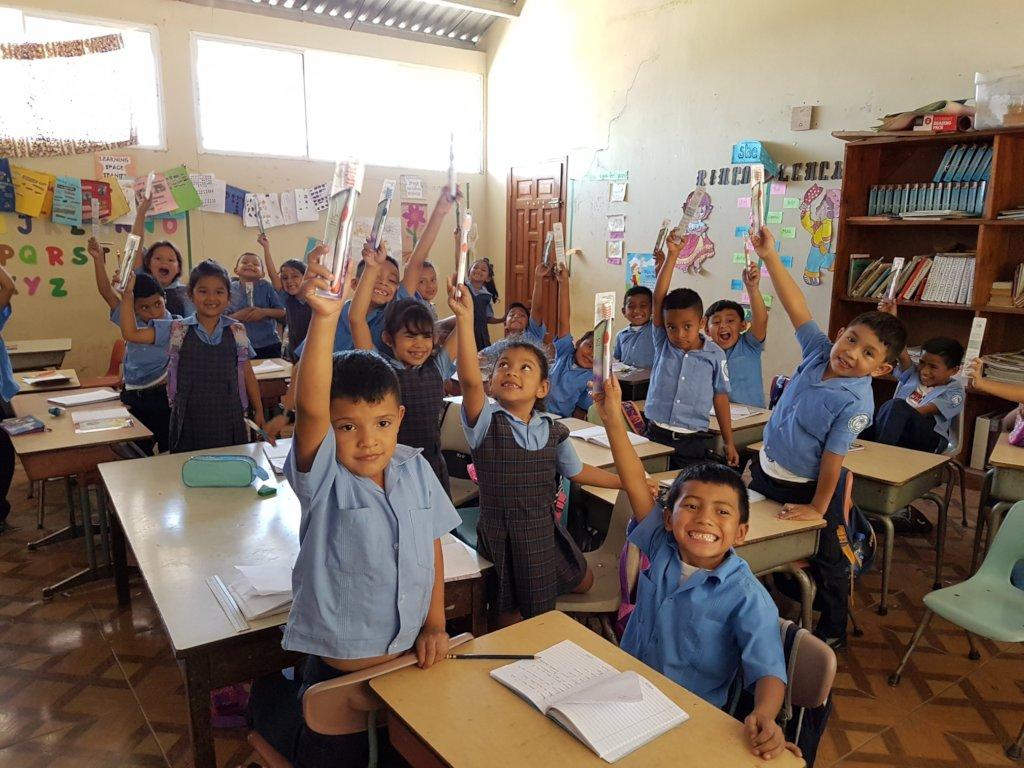 Donation of Toothbrushes Good Shepherd School