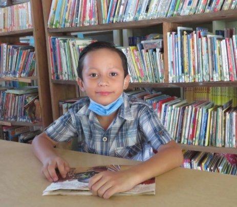 Second grader, Elvin
