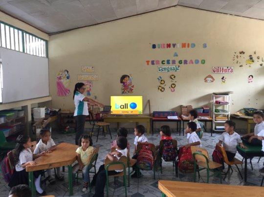 Kinder Class using Technology