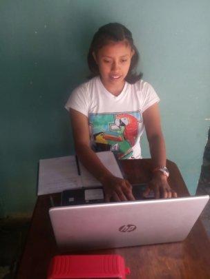 Nely working in Yamaranguila