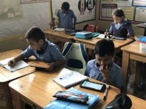 Using tablets in a classroom