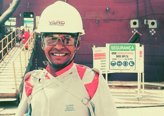 Marcelo at work at VARD shipyard