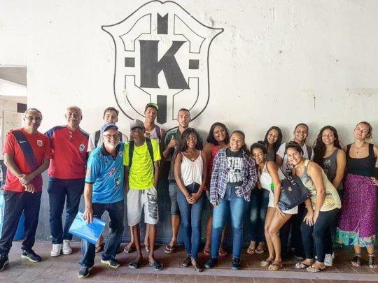 Recruitment meeting at Projeto Karanba