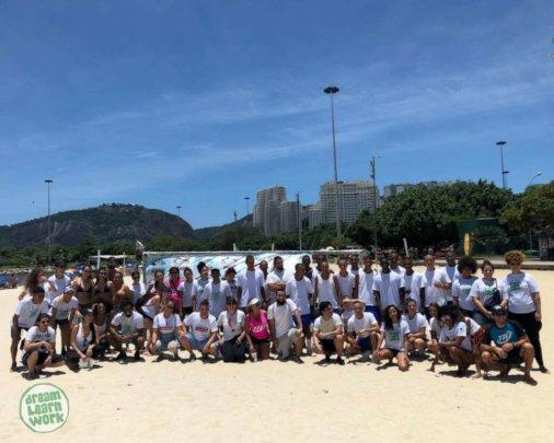 Volunteering Clean Up in Flamengo Beach