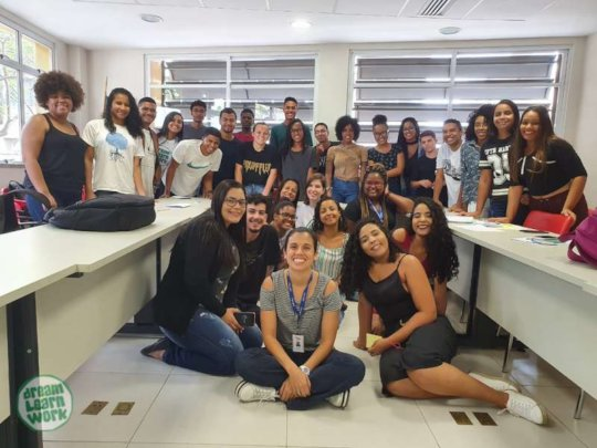 Students Human Development course last class.