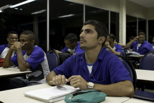 Samuel at his vocational training course