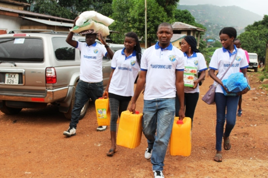 AID-SL Distribution of food items to flood victims