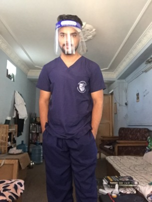 Dr Kamal gets ready for work
