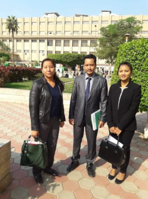 Dr Lalit with colleagues, after his exam