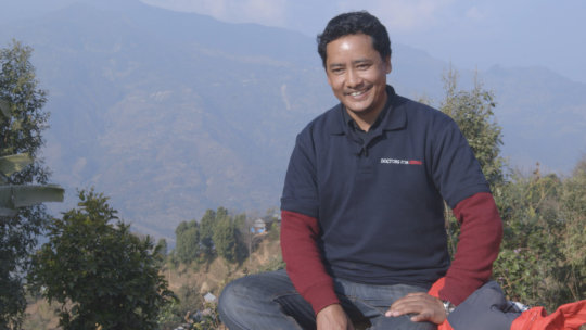 Dr Lalit, near Manma Hospital in remote Himalayas