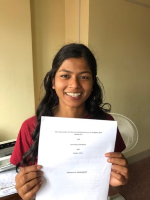 New DFN and PAHS nursing student, Neelam