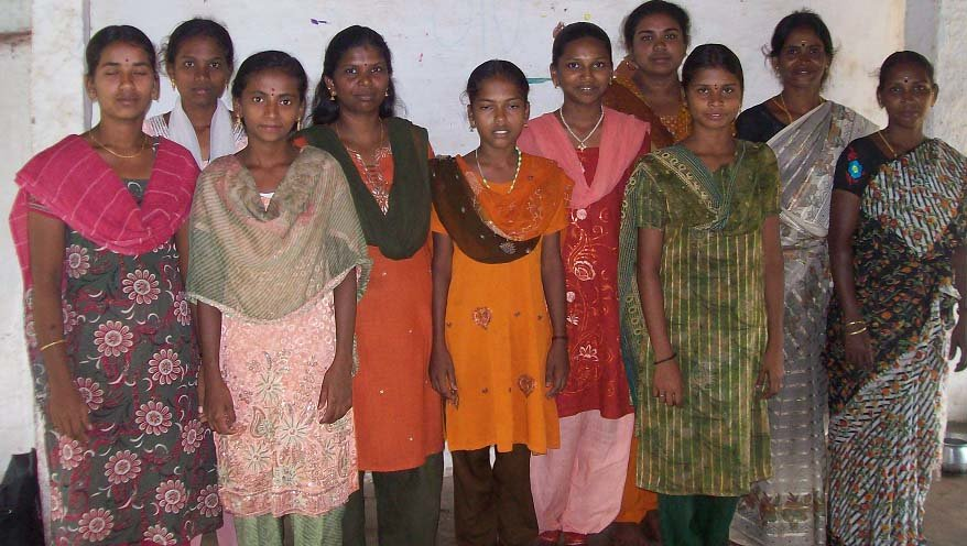 A group of training beneficiaries of the programme